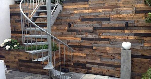 Mooie schutting exterieur tuin pinterest schutting pallethout en tuin - Tuin exterieur ontwerp ...