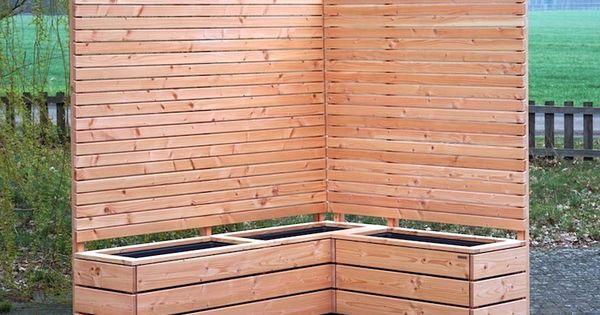Pflanzkasten Holz Ecke Mit Sichtschutz Pflanzkasten Holz Pflanzkasten Sichtschutz Garten Holz