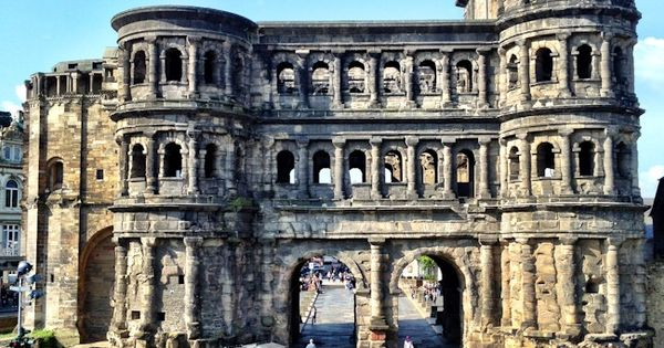 Porta Nigra, (black gate). Alps in Trier, the oldest City in Germany.