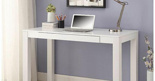 Parsons White Finish 48 Desk White Parsons Desk Home White Finish