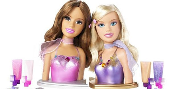 2007 Teresa Barbie Fashion Fever Trend Friends 2 In 1 Styling Head Pair L6489 40 Pcs Pull Apart Base Mattel Barbie Styling Head Barbie Fashion Barbie