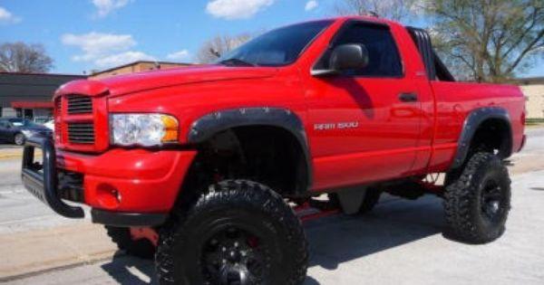 2002 dodge ram 1500 - Red 2005 Dodge Ram 1500 Lifted
