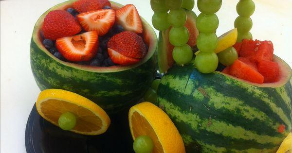Watermelon Train Fruit Basket Bouquets Pinterest