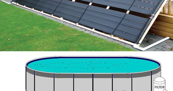 Above ground pool solar panel pool heater 40 for the for Above ground pool siding ideas