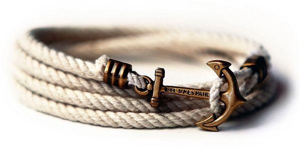 Kiel James Patrick Atlantic Whalers Lanyard Hitch Rope Bracelet, loving the anchor