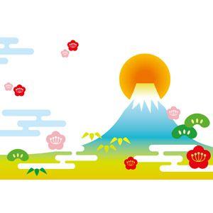 フリーイラスト ベクター画像 Eps 背景 山 富士山 世界遺産