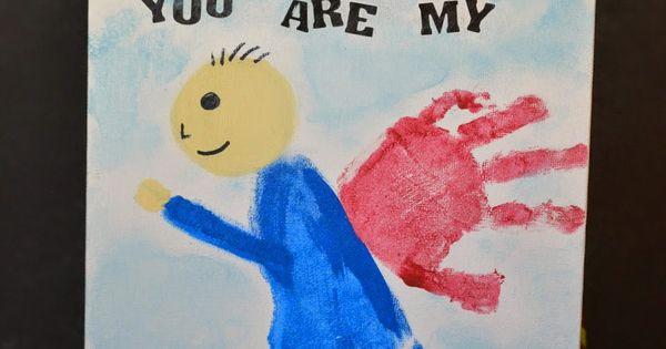 You Are My Superhero {Father's Day Gift Idea} fathersday gift idea craft keepsake handprint footprint superhero creative diy babybook preschool prek kindergarten toddler baby infant kids children home weekend dads dad