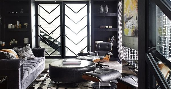 Man Cave Accessories Brisbane : A moody man cave at it s finest with eames lounge chairs
