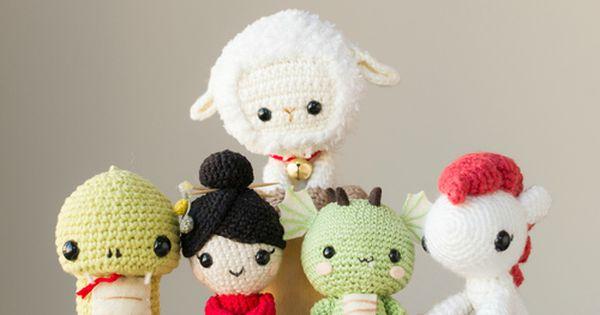 Cute Amigurumi Ideas : Amigurumi crochet Chinese zodiac dolls. Free patterns ...