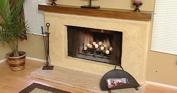 Stucco Over Brick Fireplace Fireplace Pinterest