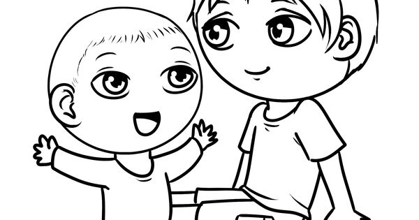 big brother coloring pages - photo#24