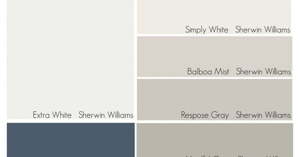 Whole House Paint Color Palette from The Creativity Exchange