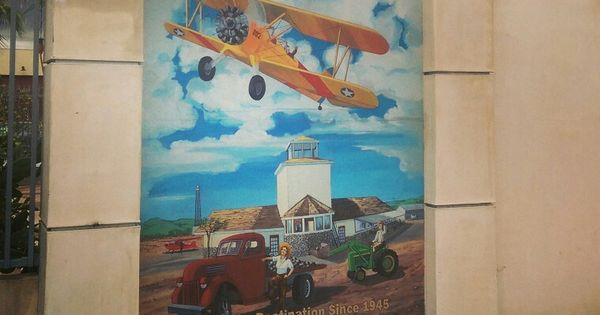 Cable airport mural in downtown upland california 2014 for Cache cable mural