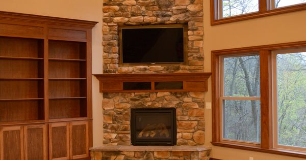 Floor To Ceiling Corner Stone Fireplace Corner Fireplace