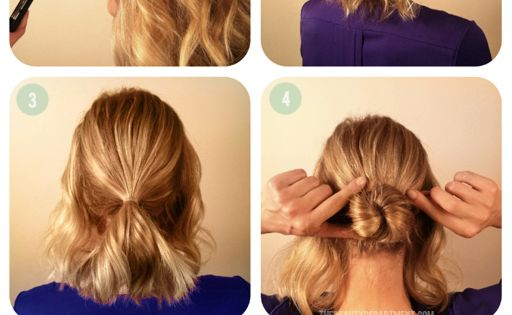 Braided Updo. Short hair. Doing this tomorrow morning :)