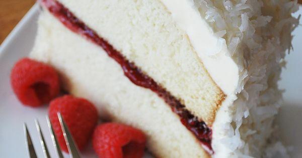 Amee's Savory Dish: Moist Vanilla Bean Cake w/Raspberry Chambord Filling & Coconut
