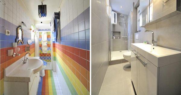 r novation d une salle de bain troite salle de bain pinterest salle de bains troite. Black Bedroom Furniture Sets. Home Design Ideas
