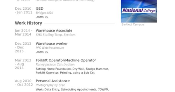 warehouse associate Resume example Resume Wizards Pinterest - winway resume free
