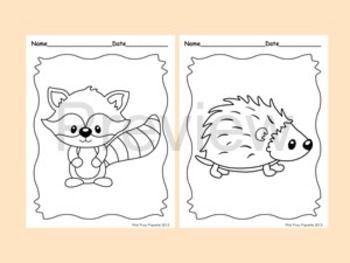 Woodland Forest Animals Coloring Pages 8 Designs Fox Included Animal Embroidery Patterns Animal Coloring Pages Coloring Pages