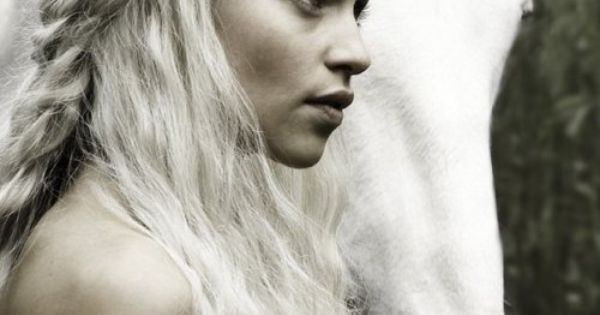 Emilia Clark as Daenerys Targaryen on Game of Thrones, and my secret