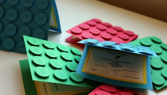 Lego Birthday Party Invitations - Find more Lego Party Invite Ideas at