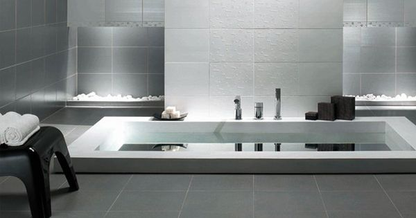 une baignoire encastree au sol salle de bains. Black Bedroom Furniture Sets. Home Design Ideas