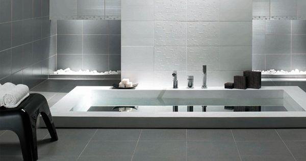 une baignoire encastree au sol salle de bains. Black Bedroom Furniture Sets. Home Design Ideas