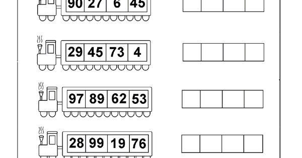 least to greatest numbers 4 worksheets printable worksheets pinterest worksheets math. Black Bedroom Furniture Sets. Home Design Ideas