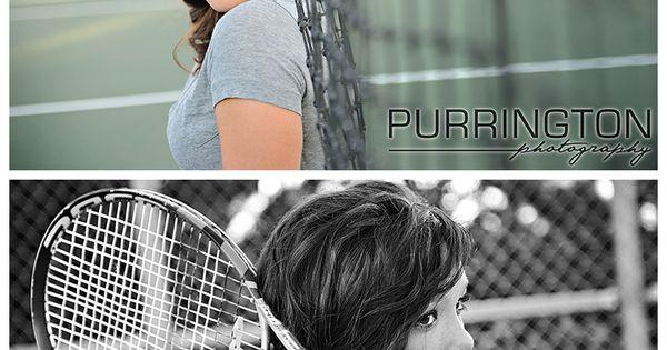 Tennis ideas for senior portrait © Purrington Photography