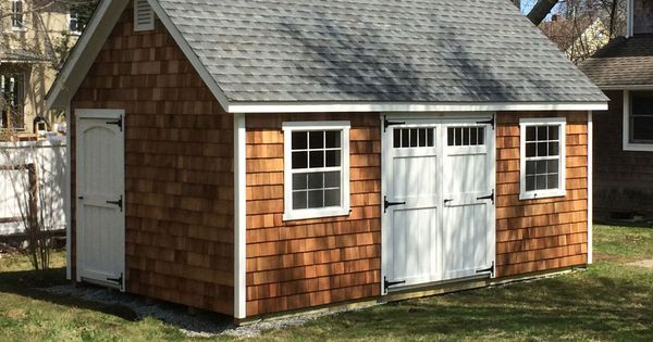 Have a beach house like the cedar shake look this kloter for Cedar shingle shed