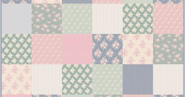plaid tilda rose quilt en tissu fa on patchwork tissu couture n hen pinterest t. Black Bedroom Furniture Sets. Home Design Ideas
