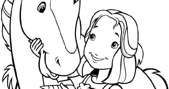 pferde und mädchen malvorlagen 01  kindergeburtstag