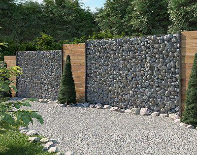 Gabione steinkorb sichtschutz 1630mm anthrazit steinzaun for Steinkorb sichtschutz