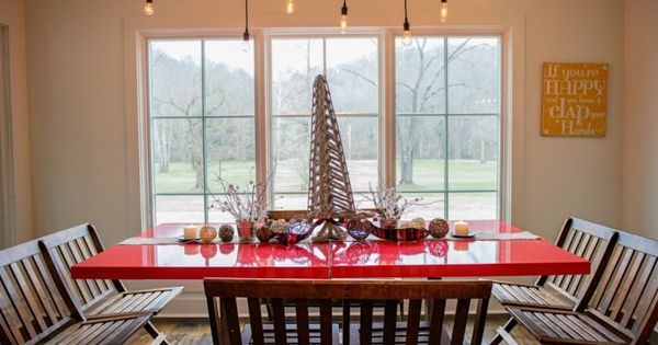 A Farm House Christmas Decor And Window Design