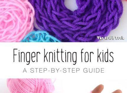Finger Knitting For Kids Instructions : Finger knitting for kids step guide and