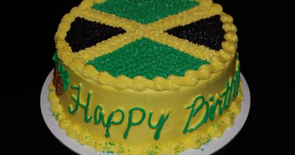 how to make icing for jamaican wedding cake jamaican flag birthday cake cakepins 40 amp fabulous 15962