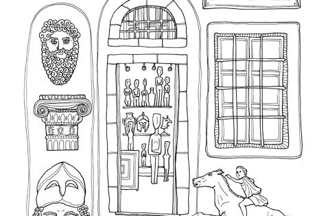 greek architecture coloring pages - photo#32