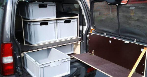 海外で見つけたジムニーの荷物収納術 2020 収納術 車内 収納 収納
