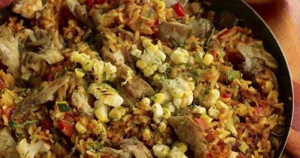Vegan Paella recipe from the Candle 79 Cookbook vegan meatlessmonday