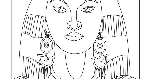 cleopatra egyptian coloring pages - photo#21