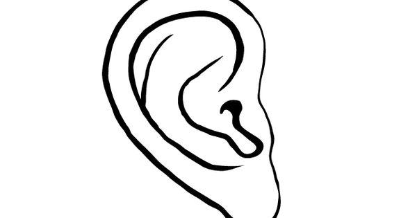 Coloring page ear  img 9527  Edupicscom