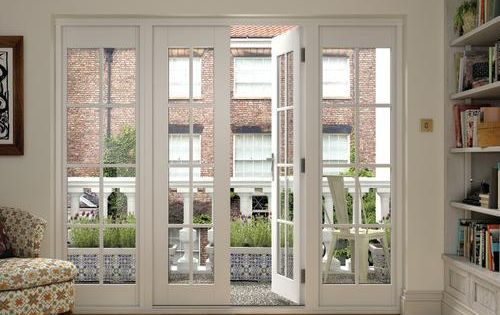 Wickes Coniston Georgian Bar Softwood French Doors 6ft With 2 Side Lites 300mm Exterior French
