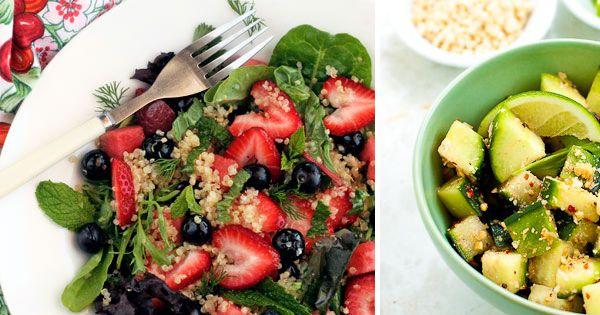 Un-cobb Salad, Cucumber Feta Rolls, Quinoa Salad Recipe ...