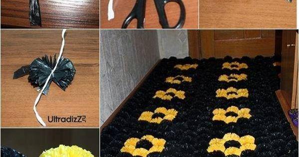 Decorar con alfombra de pompones pl sticos te gustar - Como limpiar alfombras de lana ...