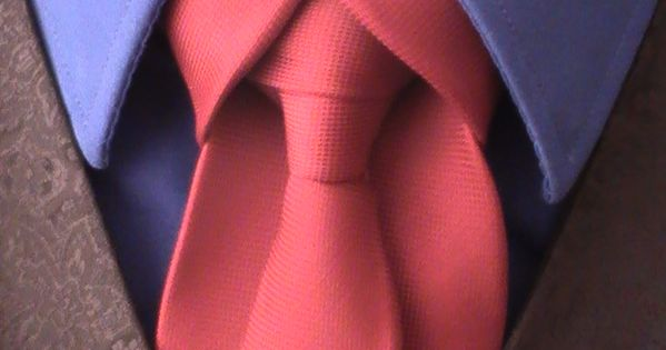 Ediety Knot for your Necktie. AKA Merovingian Knot. Perfect for weddings and other formal occasions. Click through for the how to video tutorial of the cool knot. | See more about Knot, Video Tutorials and Videos.