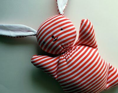 Recycled Mooshy Belly Bunny free sewing tutorial. So cute!