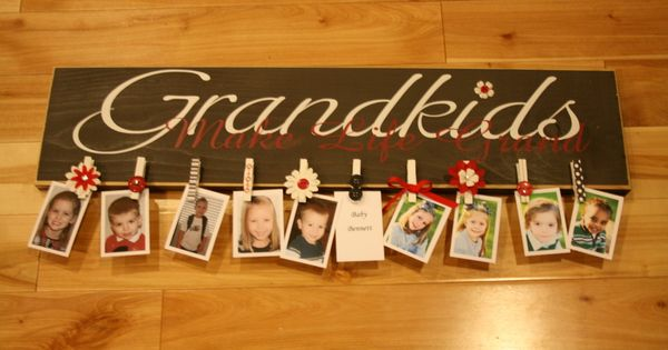 "Grandparent gift idea - ""Grandkids"" board"