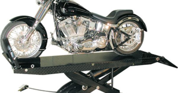 The Moto Lift Works With Five Different Pieces Of Equipment Designed To Lift Motorcycles Riding Mowers Atvs Snowmo Motorcycle Lifted Cars Automotive Repair