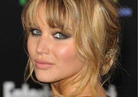 hairstyle for bangs.... Jennifer Lawrence
