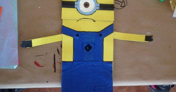 Minion Paper Bag Puppet Craft Ideas Pinterest Bags